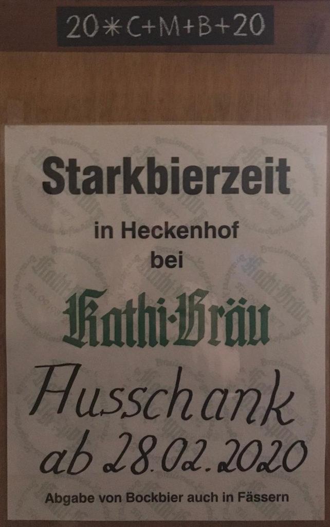 Starkbierzeit in Heckenhof